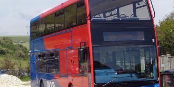 Go South Coast More convertible Scania N230UD / Optare Visionaire 1407 (HF59 DMU)