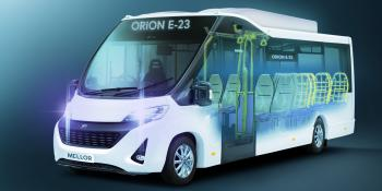 Press imagery of Mellor's Orion E23 electric