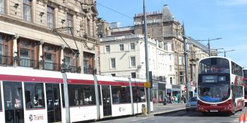 Edinburgh Tram and bus