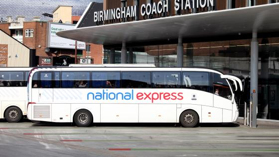 National Express coach at Birmingham Coach Station