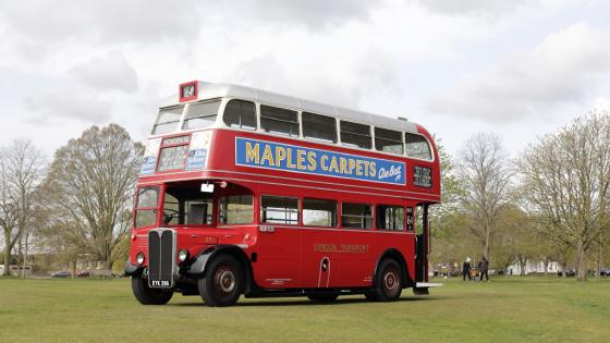 London Transport RT1 parked on Ham Common